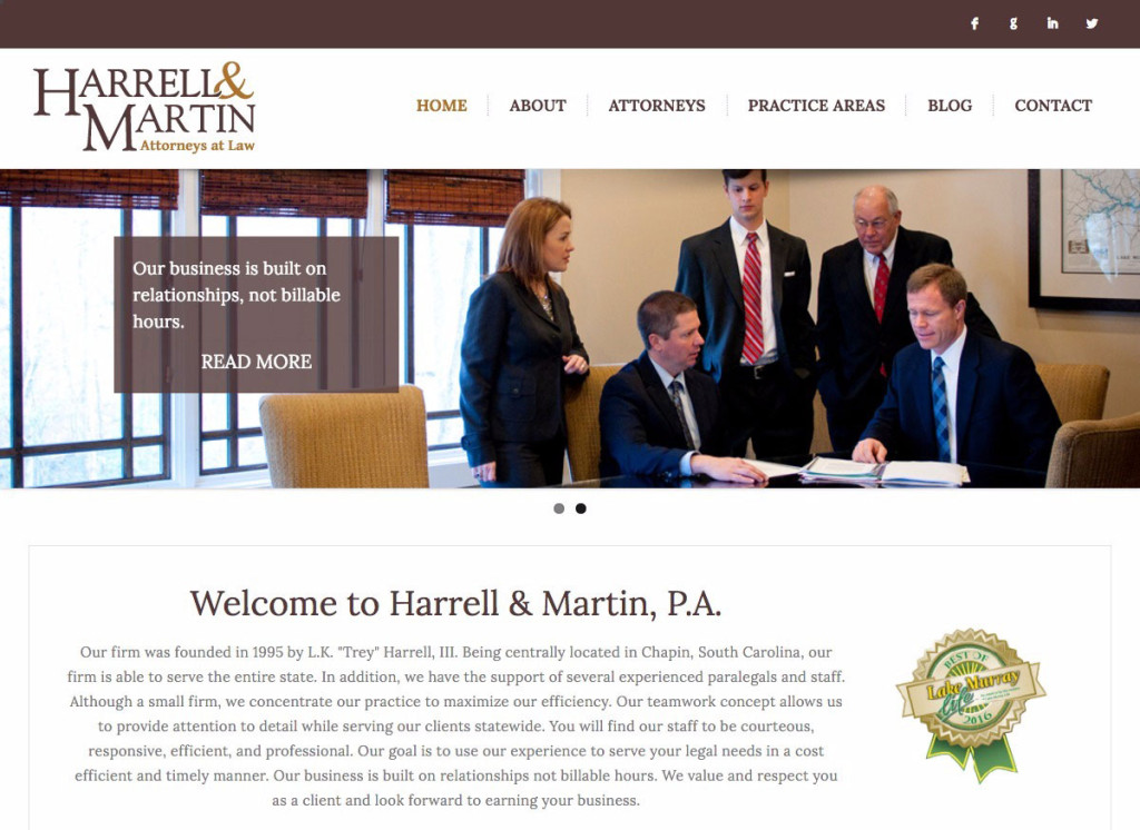 Harrell & Martin, Attorneys at Law Local Attorney Practice In partnership with HLJCreative