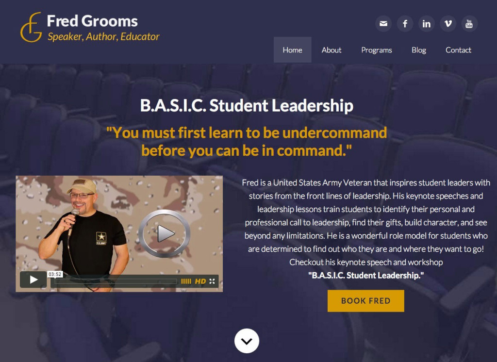 Fred Grooms Youth Motivational Speaker