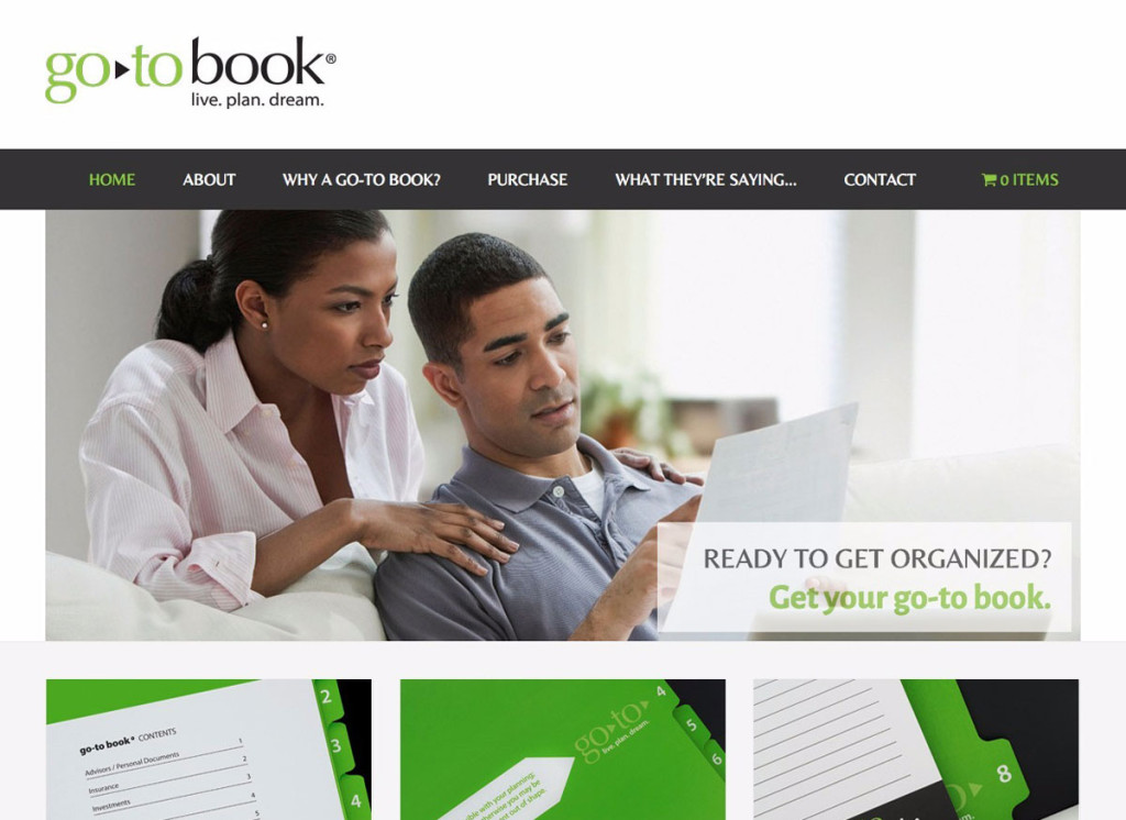 go-to book Organizational Tool for Important Financial, Legal and Insurance Documents