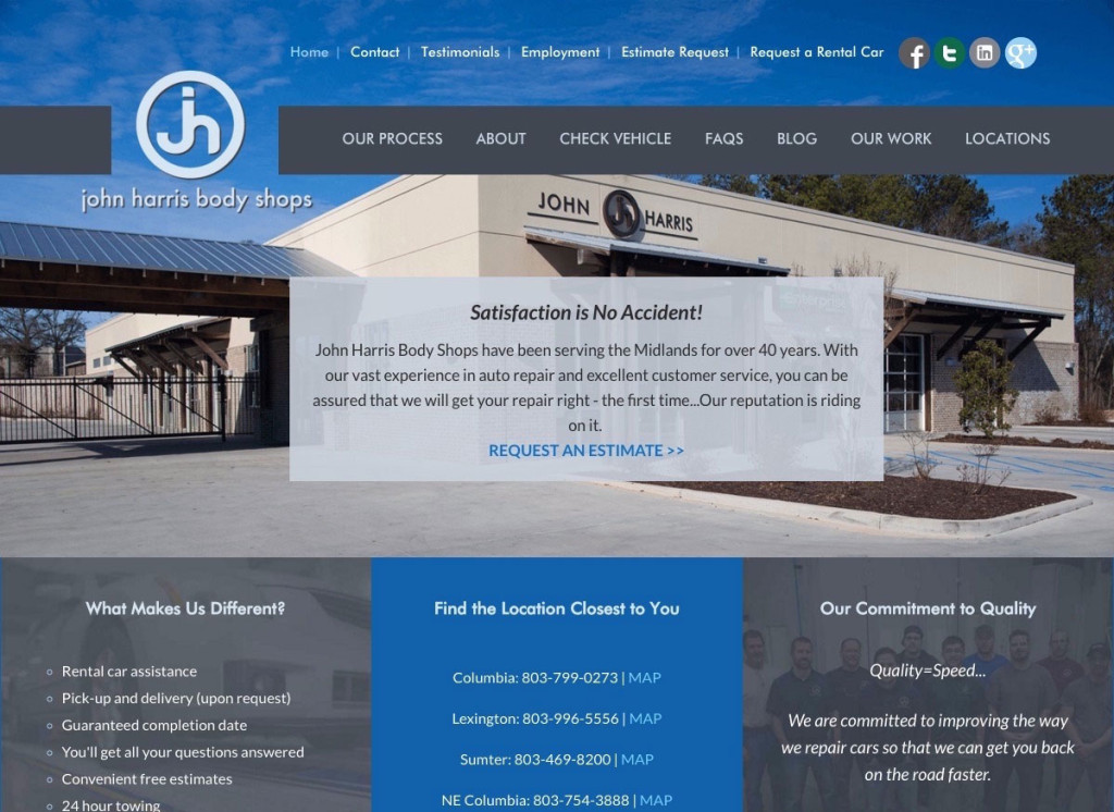 John Harris Body Shops Local Collision Repair Service In partnership with HLJCreative