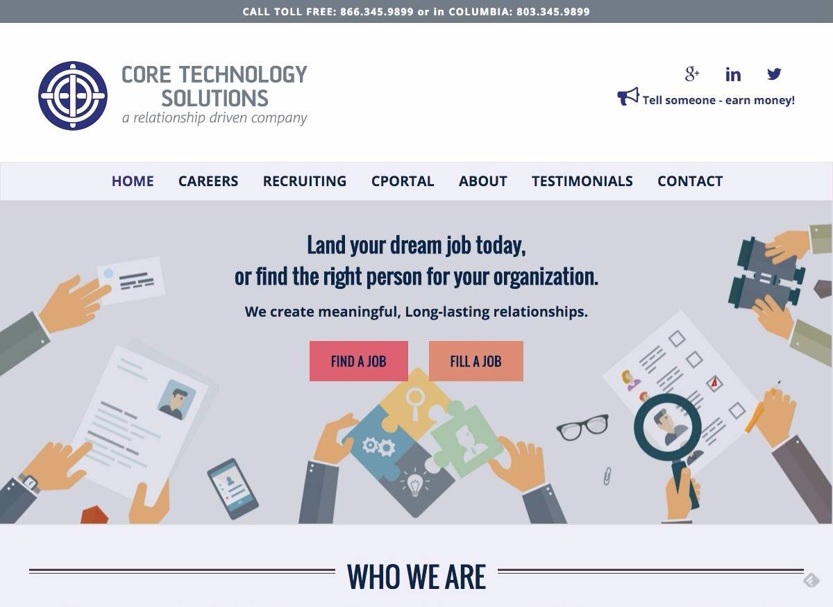 Core Technology Solutions - Social Spark Media Website