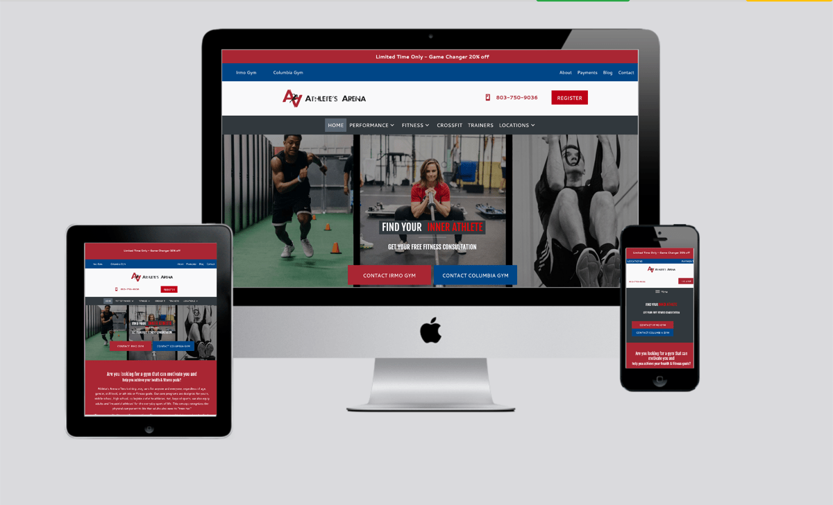 Athlete's Arena website