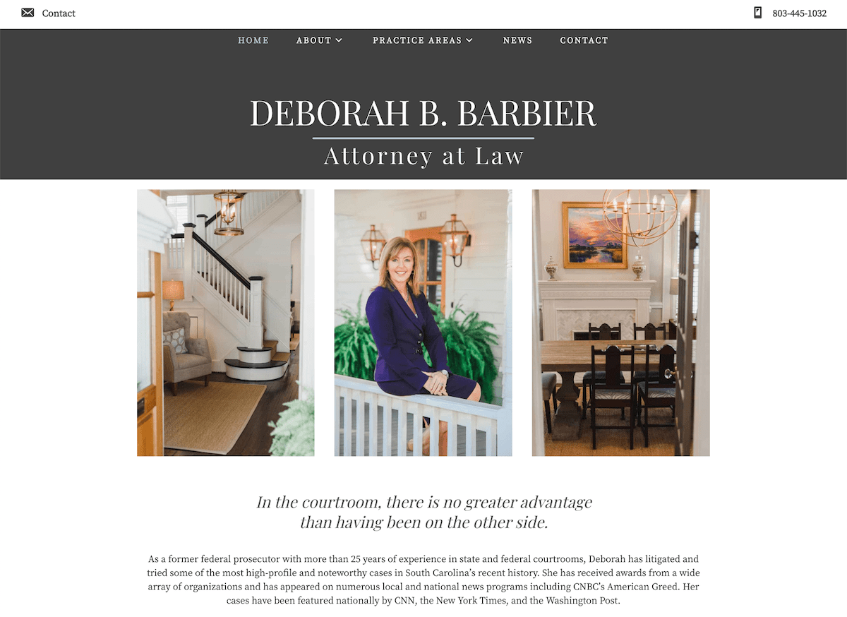 Deborah Barbier website