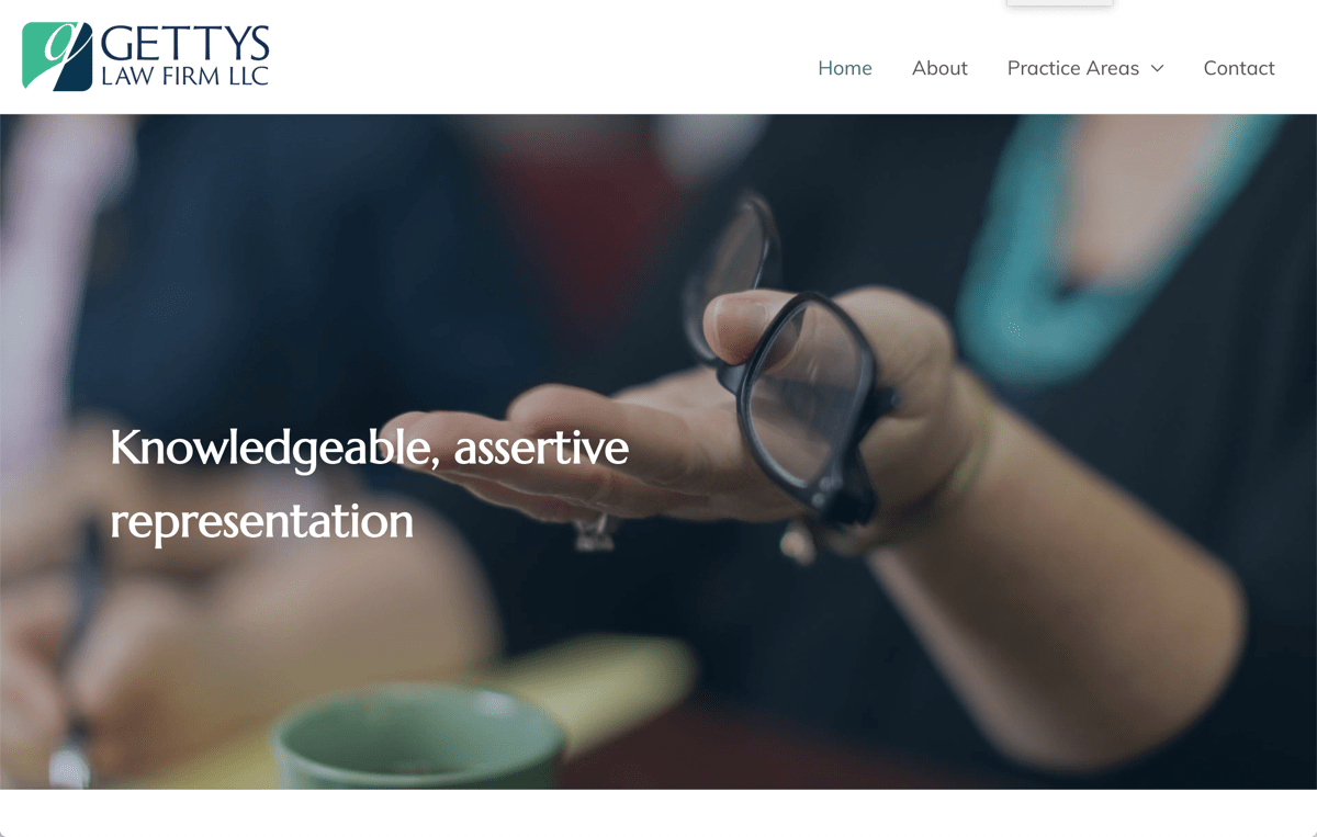 Gettys Law Firm website