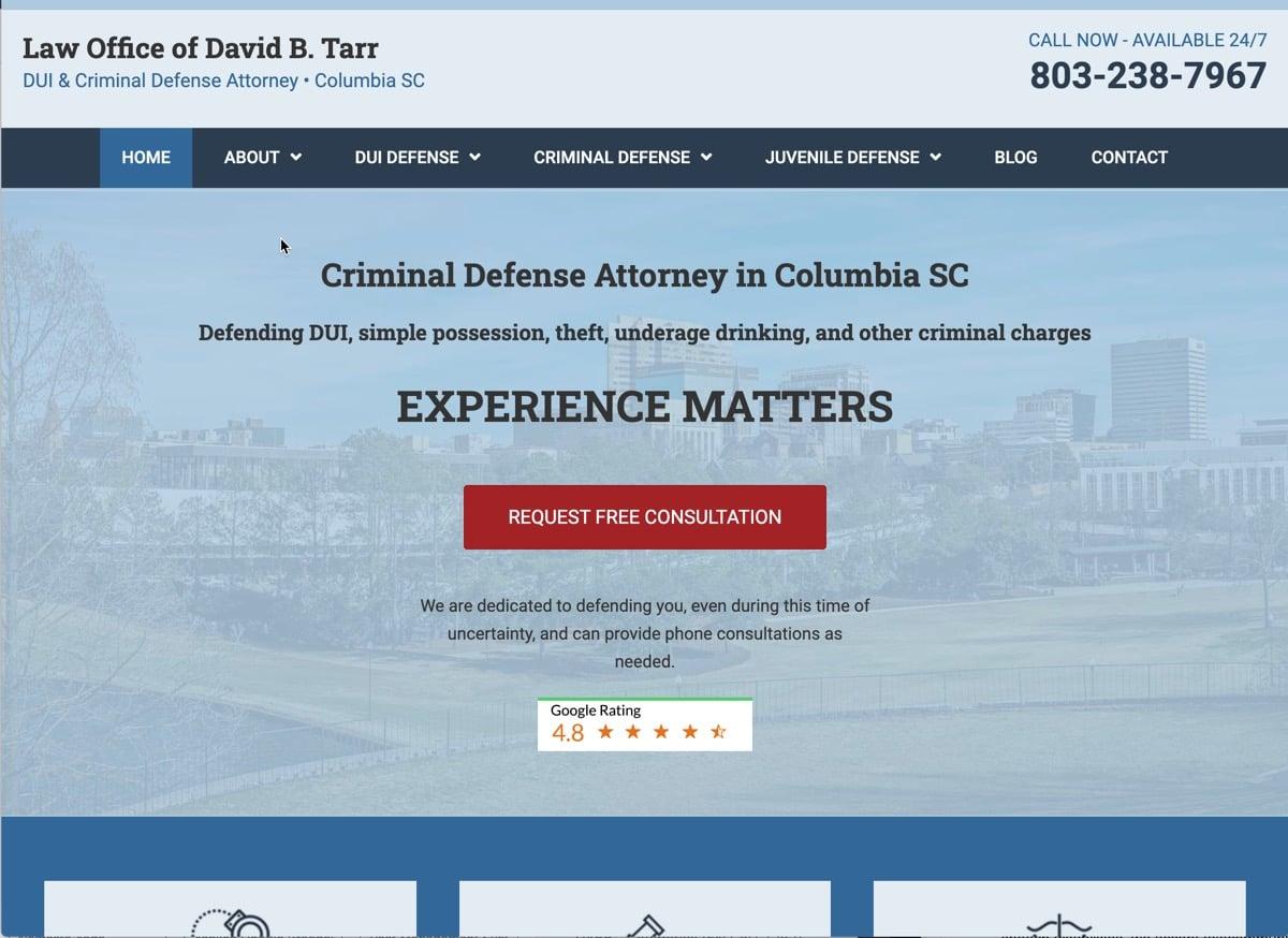 David Tarr Law website